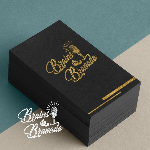 Brains & Bravado Podcast Logo