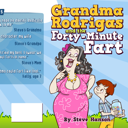 Children's Book Cover: Cartoon Grandma (ages 7-10, series)