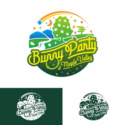 Bunny Party at Maple Valley game logo design