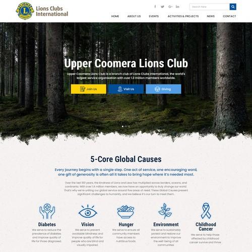 Website design for Upper coomera lions club
