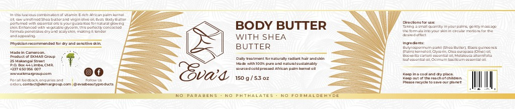 Memorably natural label for Eva's Natural Beauty Products