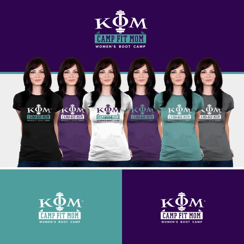 Help 'KFM' (in greek letters) - Camp Fit Mom with a new logo