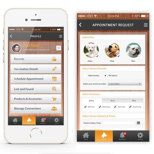 Pet Industry Mobile App Concept
