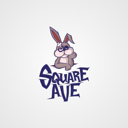 bunny logo for clothing design