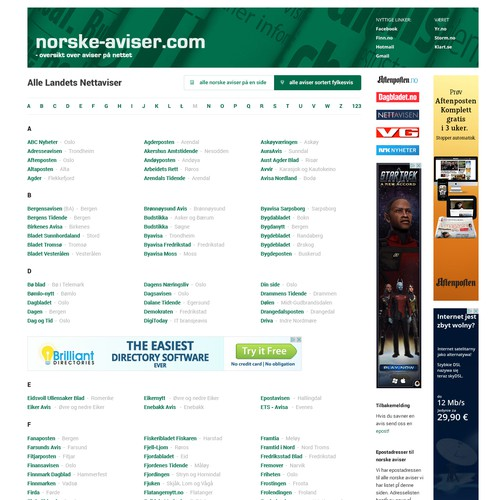 Re-design for Norske-Aviser.com