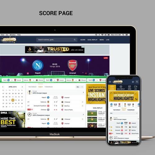 Sport website live feeds highlights