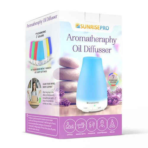 Aromatheraphy Oil Diffusser Box