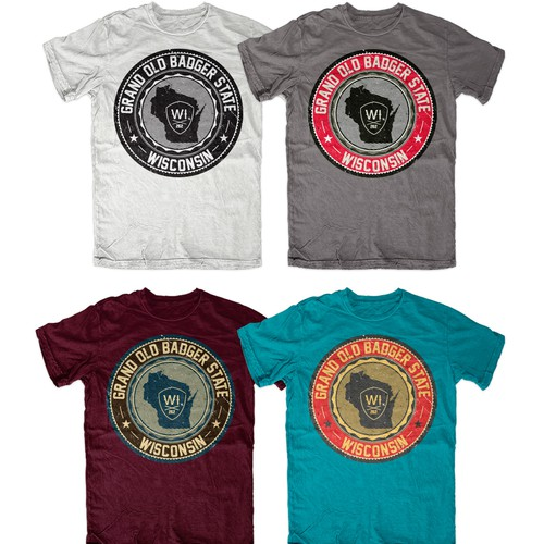 Design A Vintage T-Shirt Representing The State of Wisconsin