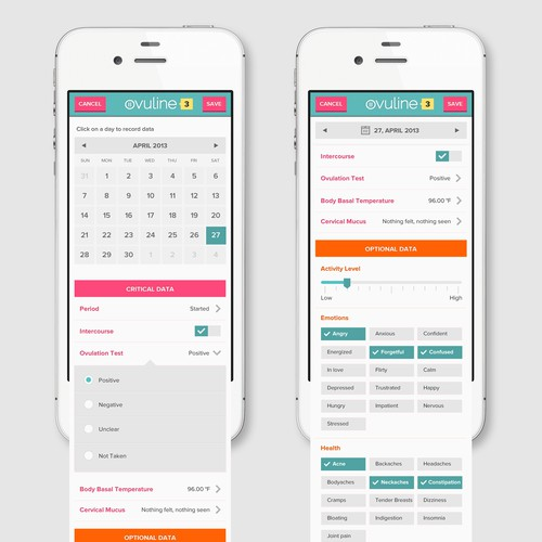 Mobile App Design for Women's Health Company