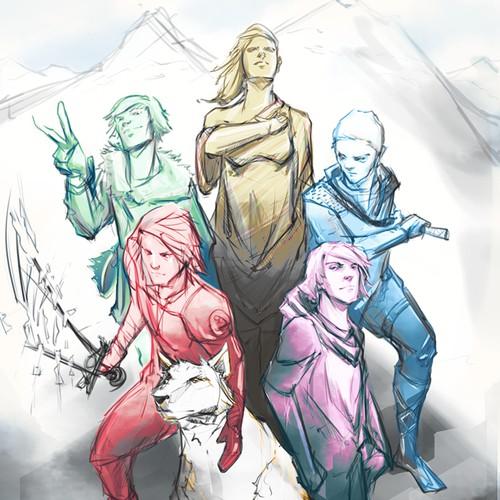 Custom Illustration for Fantasy Book Cover