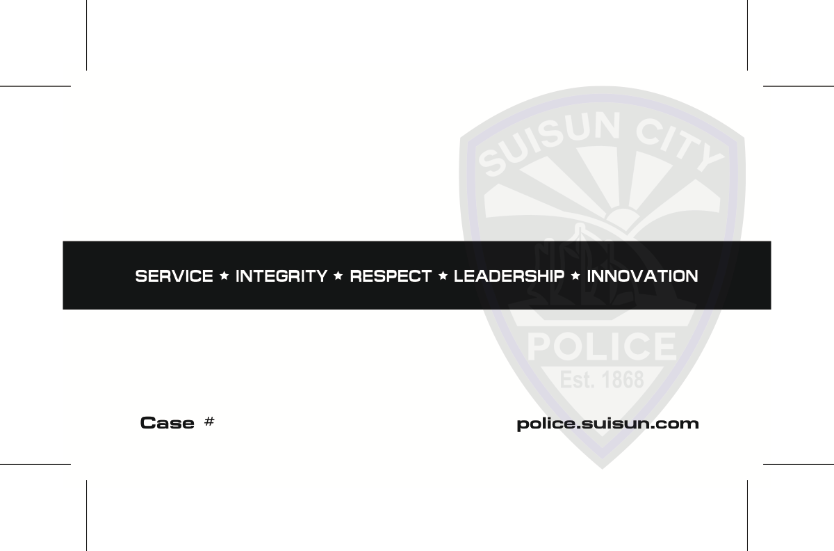 Business cards for police