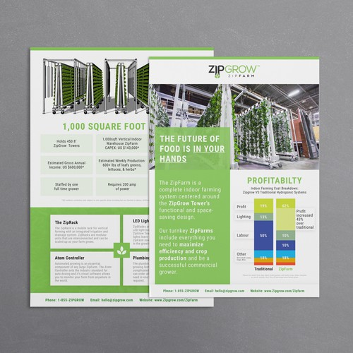 "Super clean ""Zipgrow Inc."" brochure"