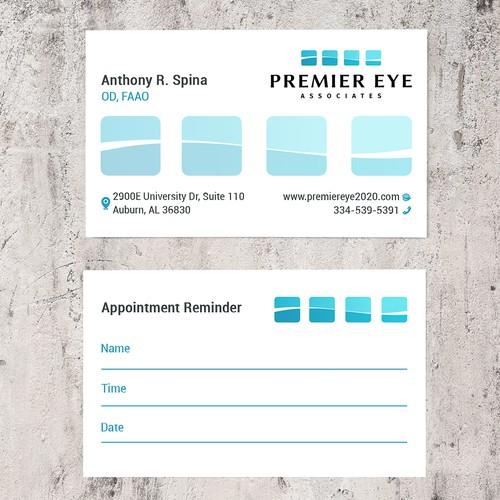 """Premier Eye Associates"" Business Card"