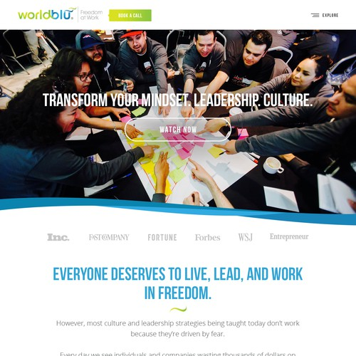 Design an Inspiring Website For Companies Building Workplace Cultures Based in Freedom