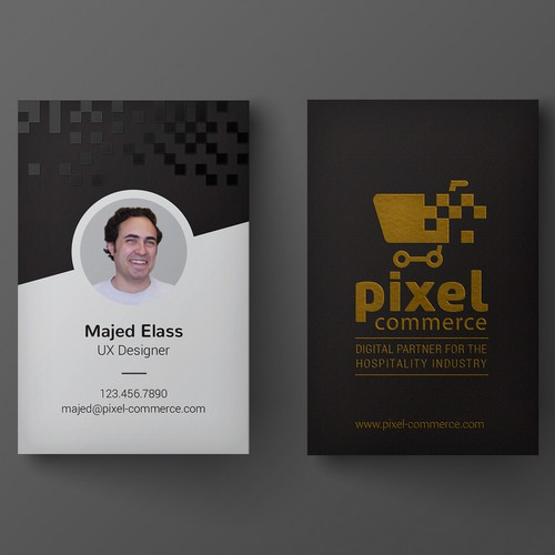 Business card for creative agency