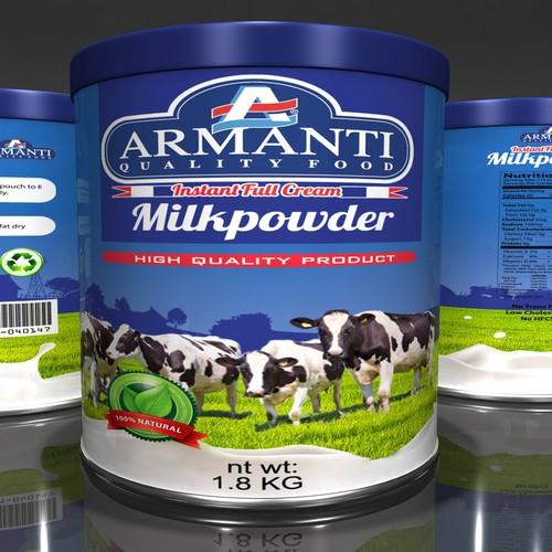 Label Design for Armanti Milk Powder
