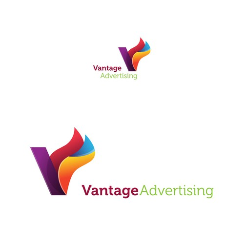 A logo for Advertising company