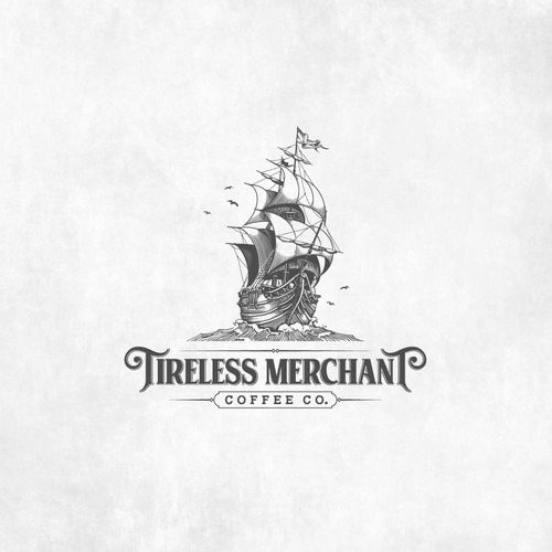 Logo Design for Tireless Merchant Coffee Co.