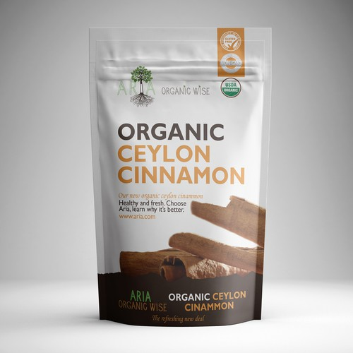 Standup Resealable Cinnamon Pouch