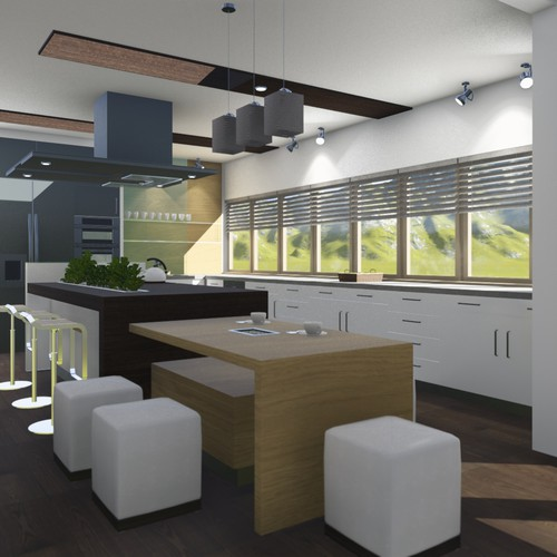 3D interior kitchen design for a house