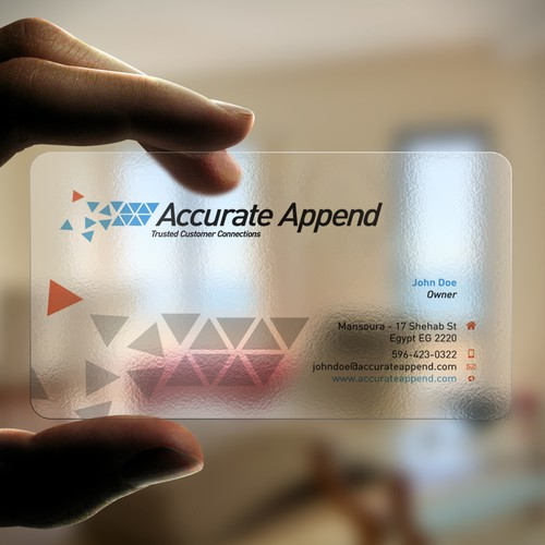 New stationery wanted for Accurate Append Inc