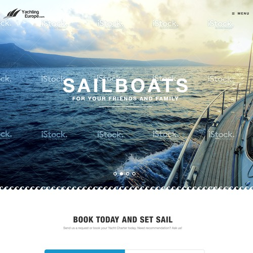 Design our Yacht Booking Site