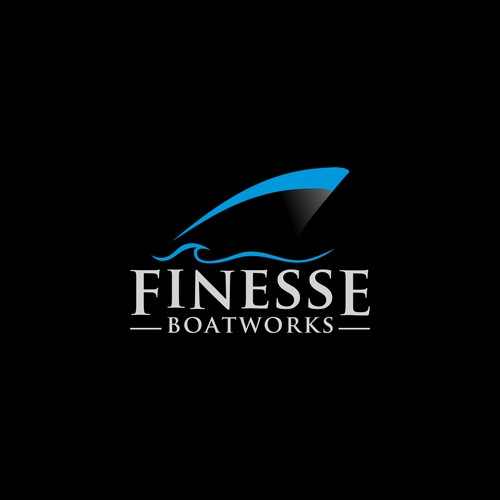Logo for a high end power boat customization and repair company