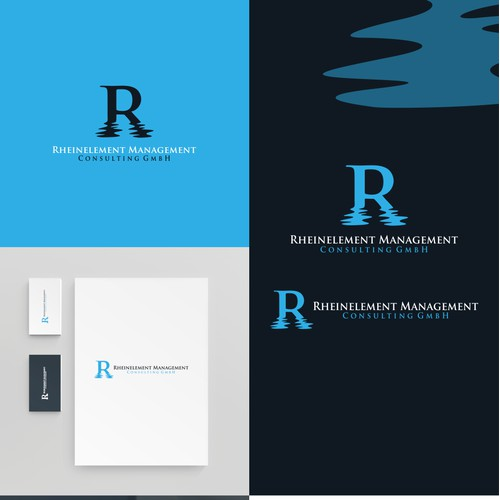 Rheinelement Management logo design