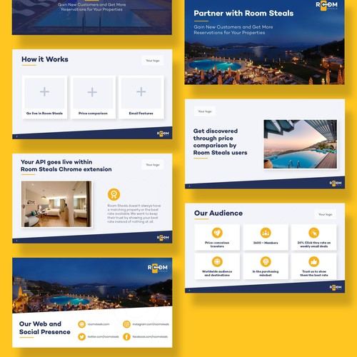 Design an exciting sales deck for our hotel Chrome extension