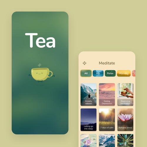 iPhone App Design - Meditation-based social media app to help people reclaim balance