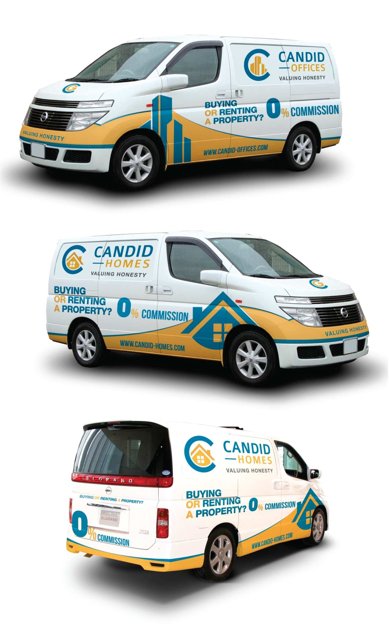 Real Estate Company Car Wrap for Nissan Elgrand