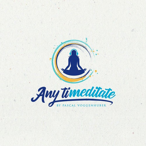 Logo for an online streaming platform for meditation music