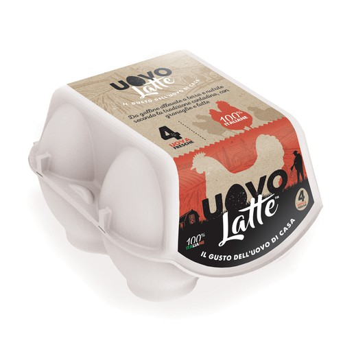 Uovo Latte Eggs Packaging