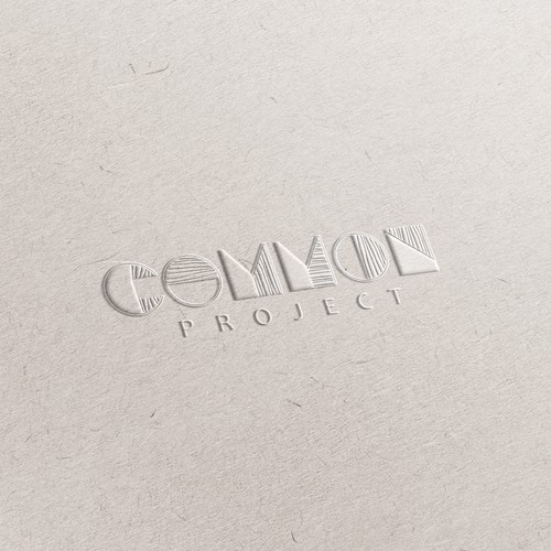 Perfectly imperfect logo for a creative art studio called Common Project.