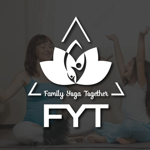Yoga logo for sale in a 1 to 1 project invite