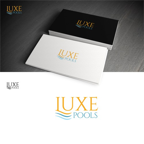 Create a luxury logo for Luxury Pool Company