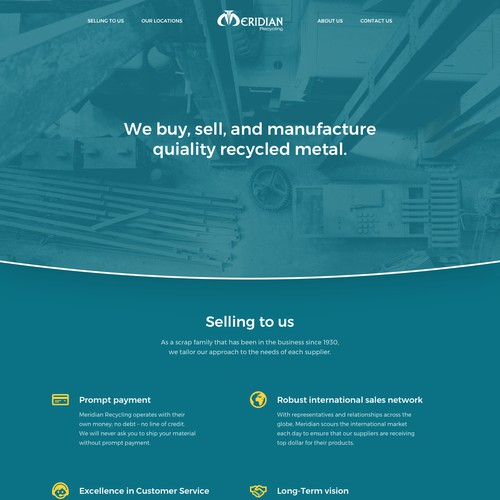 Website for metal recycling company