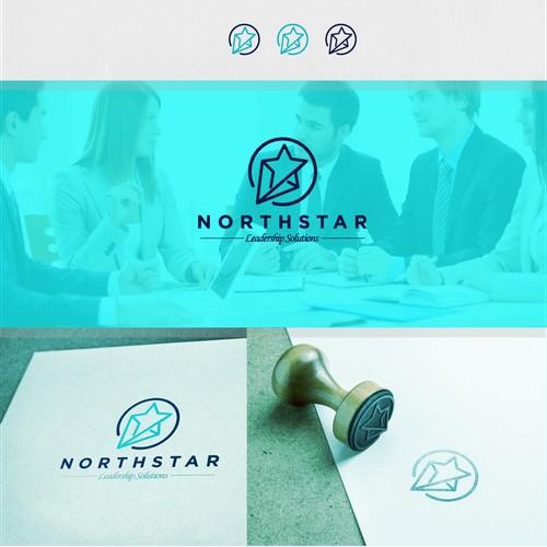 northstar leadership solution logo design