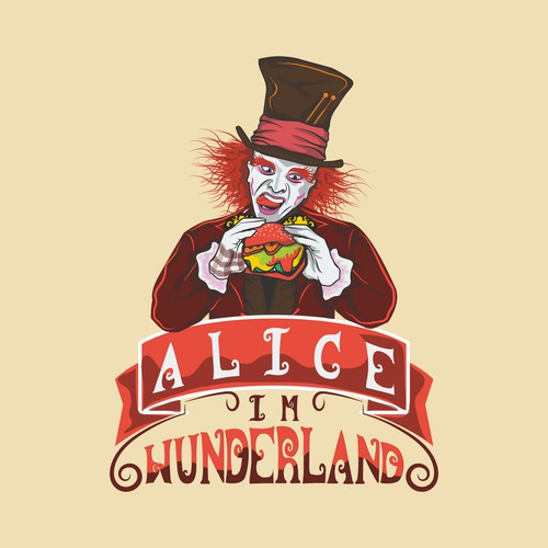 burger with style alice in wonderland