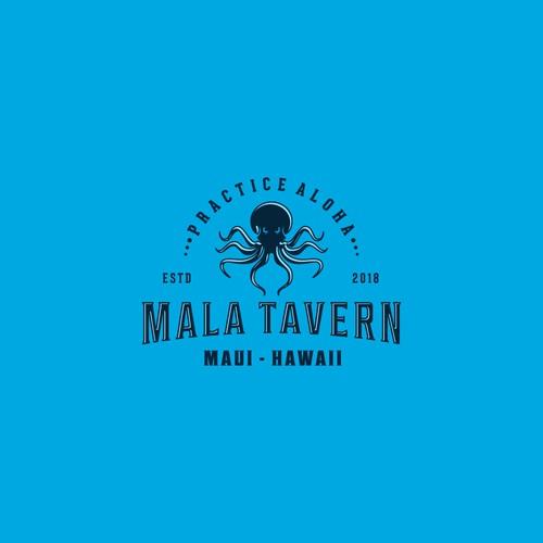 Octopus Logo For Mala Tavern