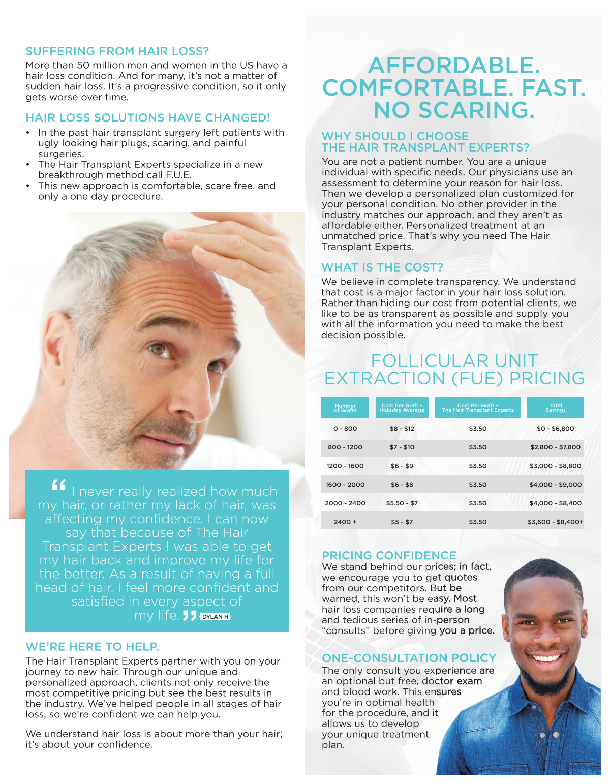 The Hair Transplant Experts Brochure