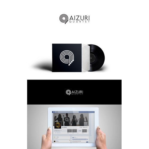 Create a fresh, innovative logo for the Aizuri Quartet