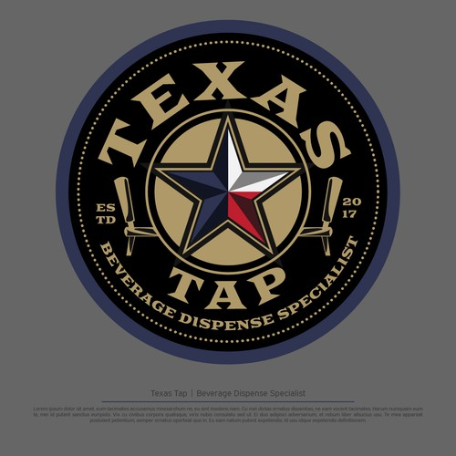 TEXAS TAP, beverage dispense specialist logo
