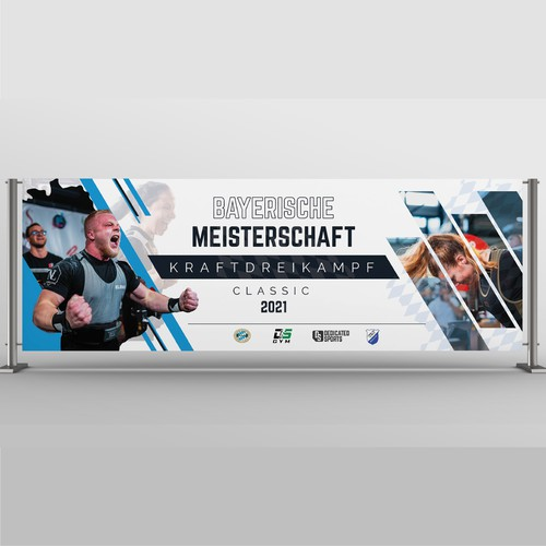Unique, modern banner design for print - sports competition