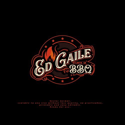 "Logo for ""Ed Gaile BBQ"""