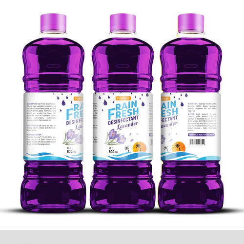 Design Modern Disinfectant Label for a Bottle