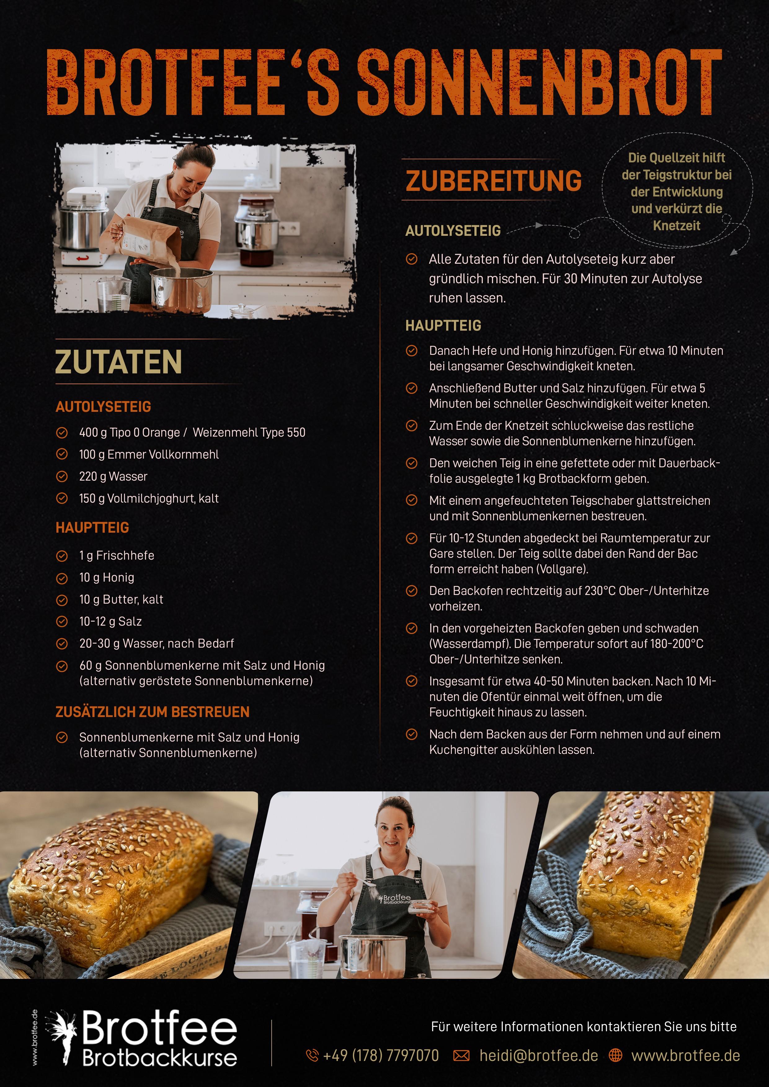 Brotfee Flyer für Rezept und Kurse