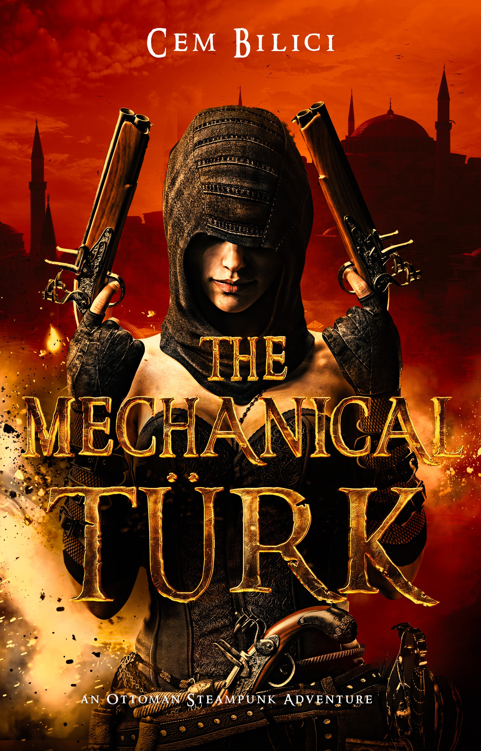 Steampunk book cover - The Mechanical Turk