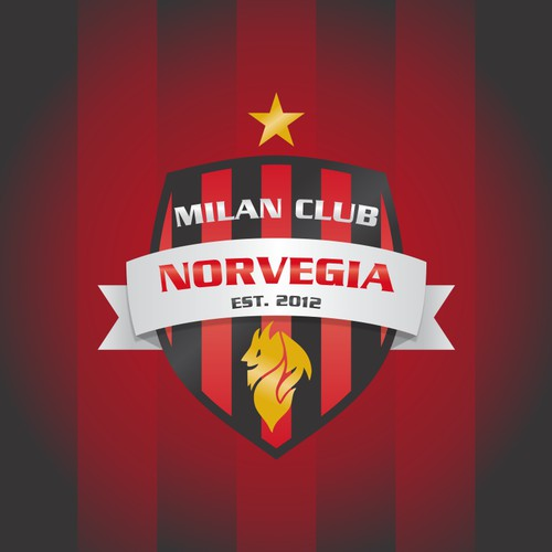 Create the next logo for MCN (Milan Club Norvegia).