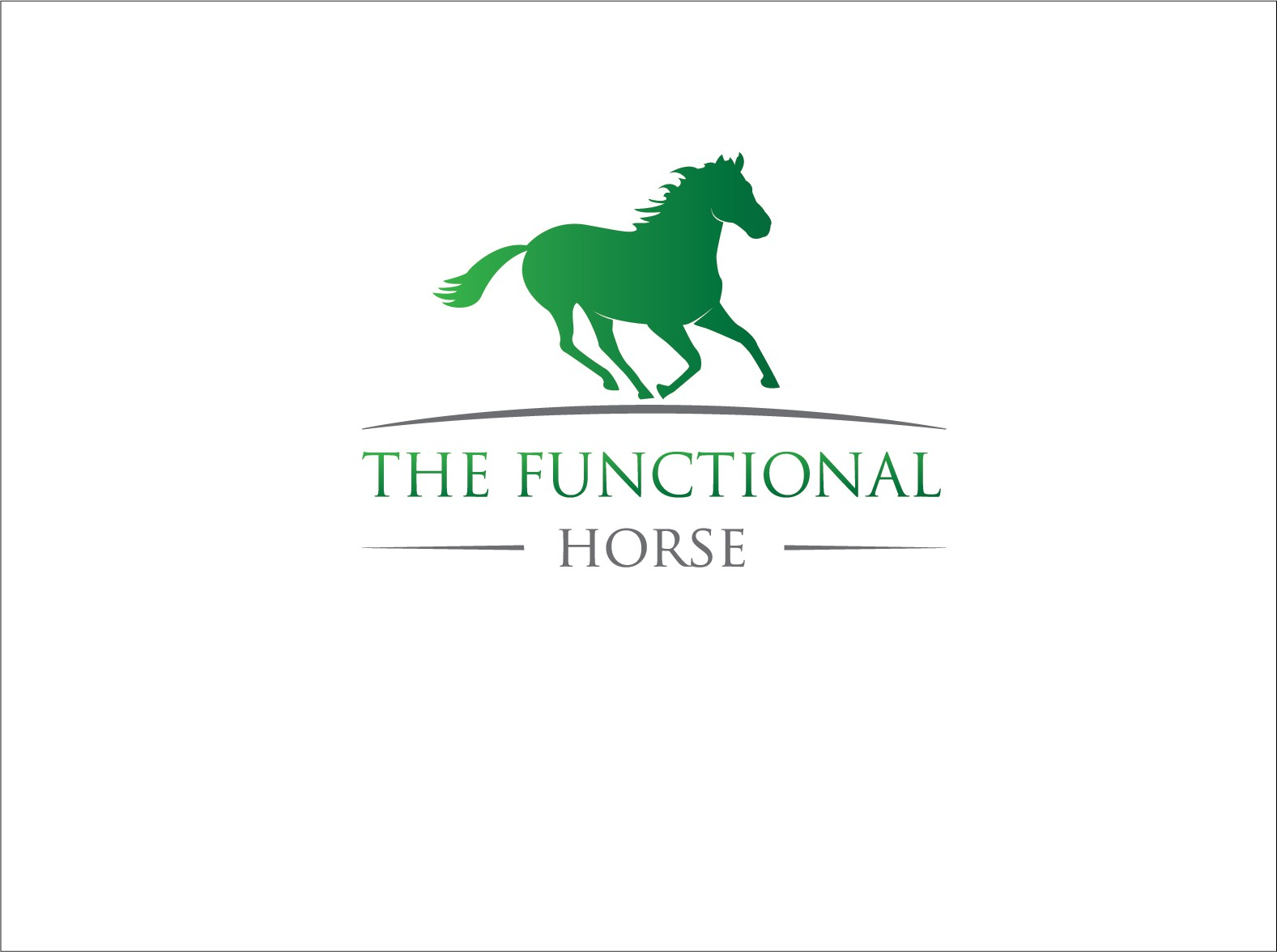 Create the next logo for The Functional Horse